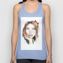 Billie Piper Drawing Unisex Tank Top
