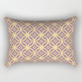Purple Red and Cream Geometric Pattern Rectangular Pillow