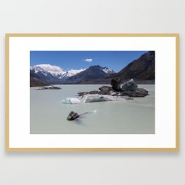 Tasman Lake, NZ Framed Art Print