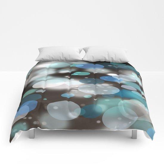 Black and Blues (portrait bokeh) Comforters