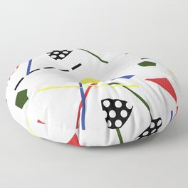 Postmodern Scavenger Hunt Floor Pillow