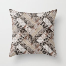 Combined ethnic pattern. Patchwork.3 Throw Pillow