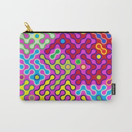 Abstract Psychedelic Pop Art Truchet Tile Pattern Carry-All Pouch