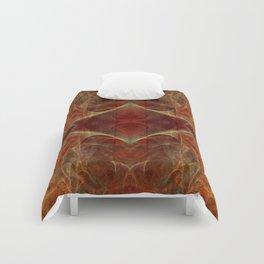 Abstract texture in autumn tones Comforters