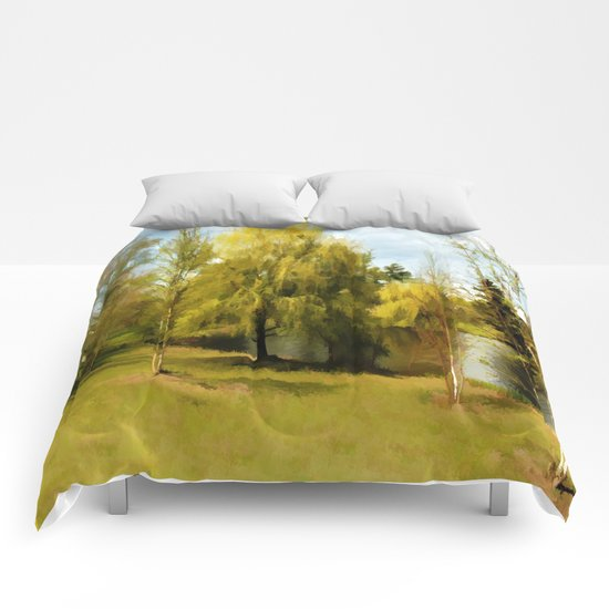 Nature's Harmony - Watercolor Comforters