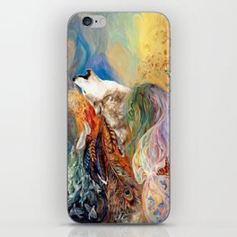 The spirit Wolf Abstract iPhone Skin