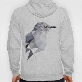 Gray Bird art Mocking Bird Geometric Hoody