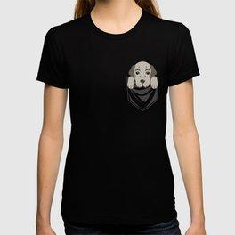 Irish Wolfhound Pocket  T-shirt