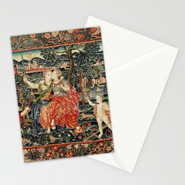 Franco Flemish Allegorical 17th Century Tapestry Print Stationery Cards