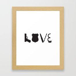 Love Police Officer Framed Art Print