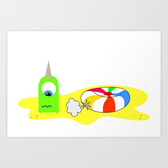 BUBOL BALL Art Print