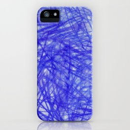 Ophelia Blue Scribble iPhone Case