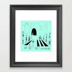 Os asombra todo, coño Framed Art Print