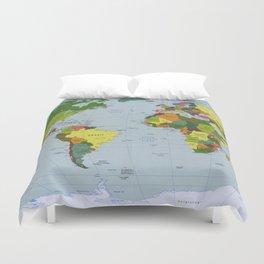 Map of The World (1998) Duvet Cover