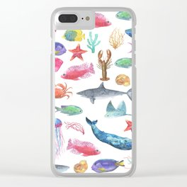 Marine Life Clear iPhone Case