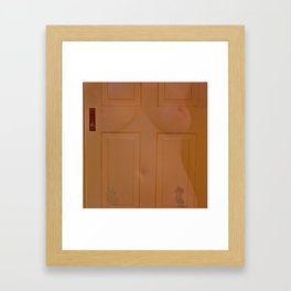 Door Bitch Framed Art Print