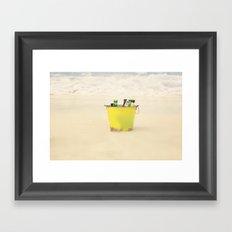 Bucket of Beer on the Beach Framed Art Print