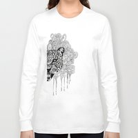leopard Long Sleeve T-shirts featuring Leopard by Zora Chen