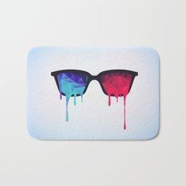 3D Psychedelic / Goa Meditation Glasses (low poly) Bath Mat