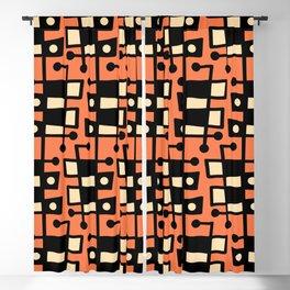 Mid Century Modern Abstract 212 Orange Blackout Curtain