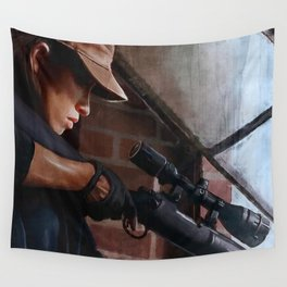 Rosita The Sniper - The Walking Dead Wall Tapestry