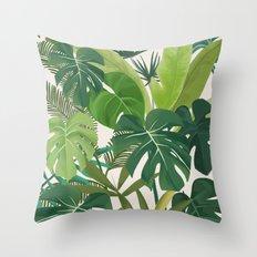 Tropical Party art illustration Throw Pillow