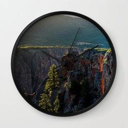 USA Black Canyon Gunnison National Park Colorado Nature canyons park Parks Wall Clock