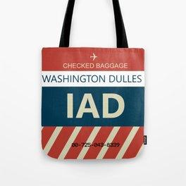 Washington Dulles Airport (IAD) Baggage Tag Tote Bag