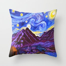 Maui Starry Night Throw Pillow