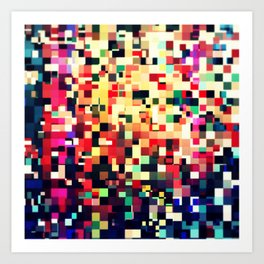 Pixel Play (iv) Art Print