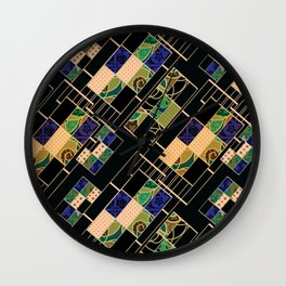 Creative patchwork. Wall Clock