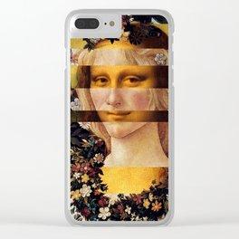 Leonardo Da Vinci'sMona Lisa & Botticelli's Venus Clear iPhone Case