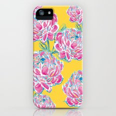 Peony : Yellow iPhone (5, 5s) Slim Case