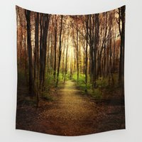 woodland Wall Tapestries featuring Woodland Wander by Olivia Joy StClaire