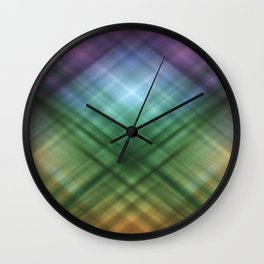 Abstract colored stripes background 19 Wall Clock