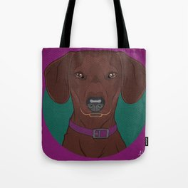 Icons of the Dog Park: Dachshund Design in Bold Colors for Pet Lovers Art Print Tote Bag