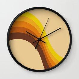 70s Color Palette Wall Clock