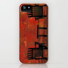 Chairs on PEI (A) iPhone Case