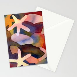 Sea Stars and Sea Shells Watercolor Art Stationery Cards