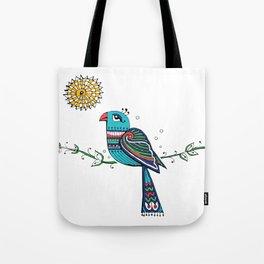 Peacock Sun Tote Bag