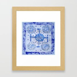 Snow arrows Framed Art Print