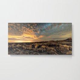 Bisti Badlands Hoodoos Under Bright New Mexico Starry Night by OLena Art Metal Print