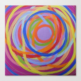 In a Spin - violet on puce Canvas Print