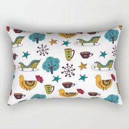 Colorful Christmas Pattern Rectangular Pillow