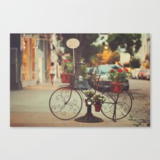 The bike with the flowers Canvas Print
