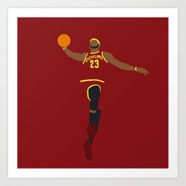 NBA Players | Lebron Dunk Art Print