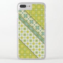 Quilt 3 (diagonal) Clear iPhone Case