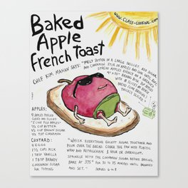 Baked Apple French Toast Canvas Print