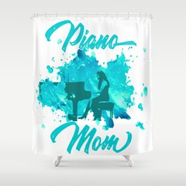 Grand Piano Mom Keyboard Clavier Pianist Gift Shower Curtain