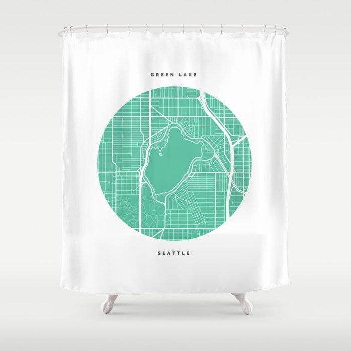 Green Lake Seattle Shower Curtain